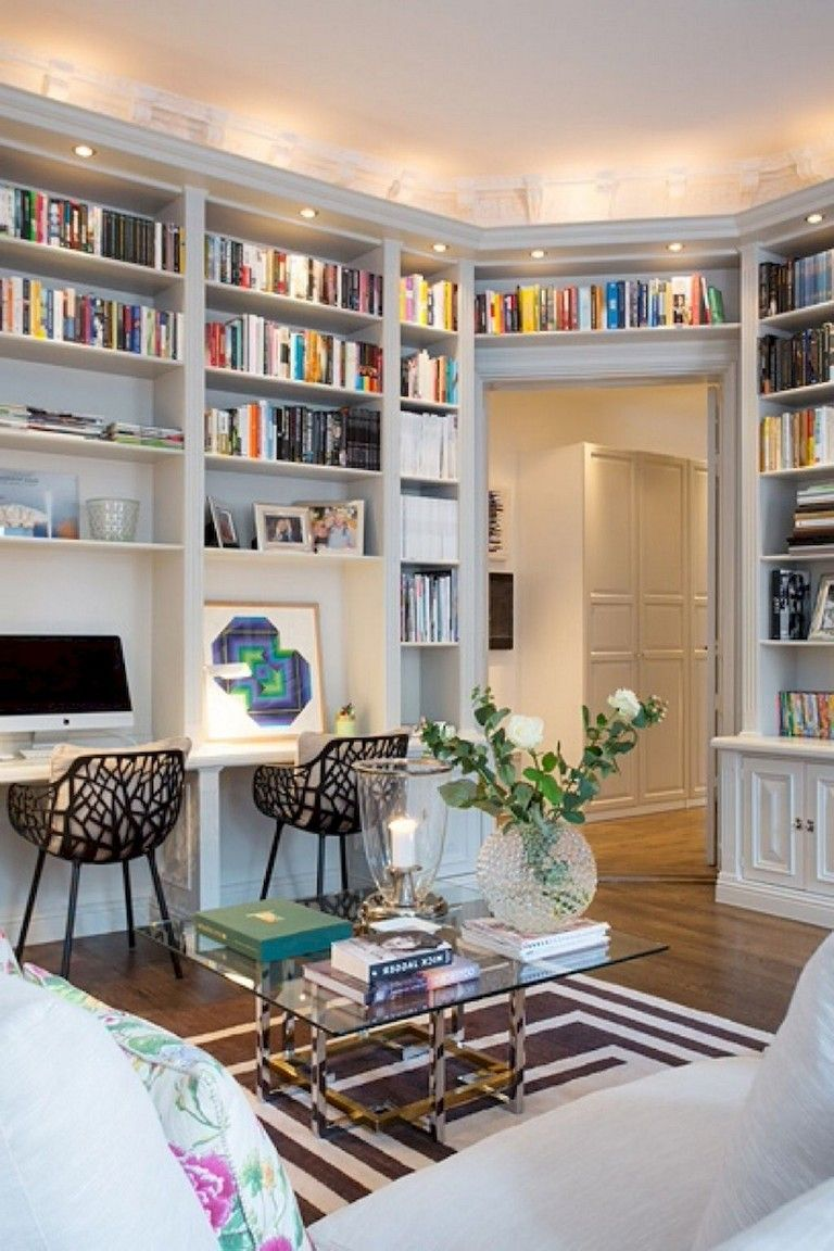 Home Library Room Office: 17+ Cozy Home Office Makover Ideas