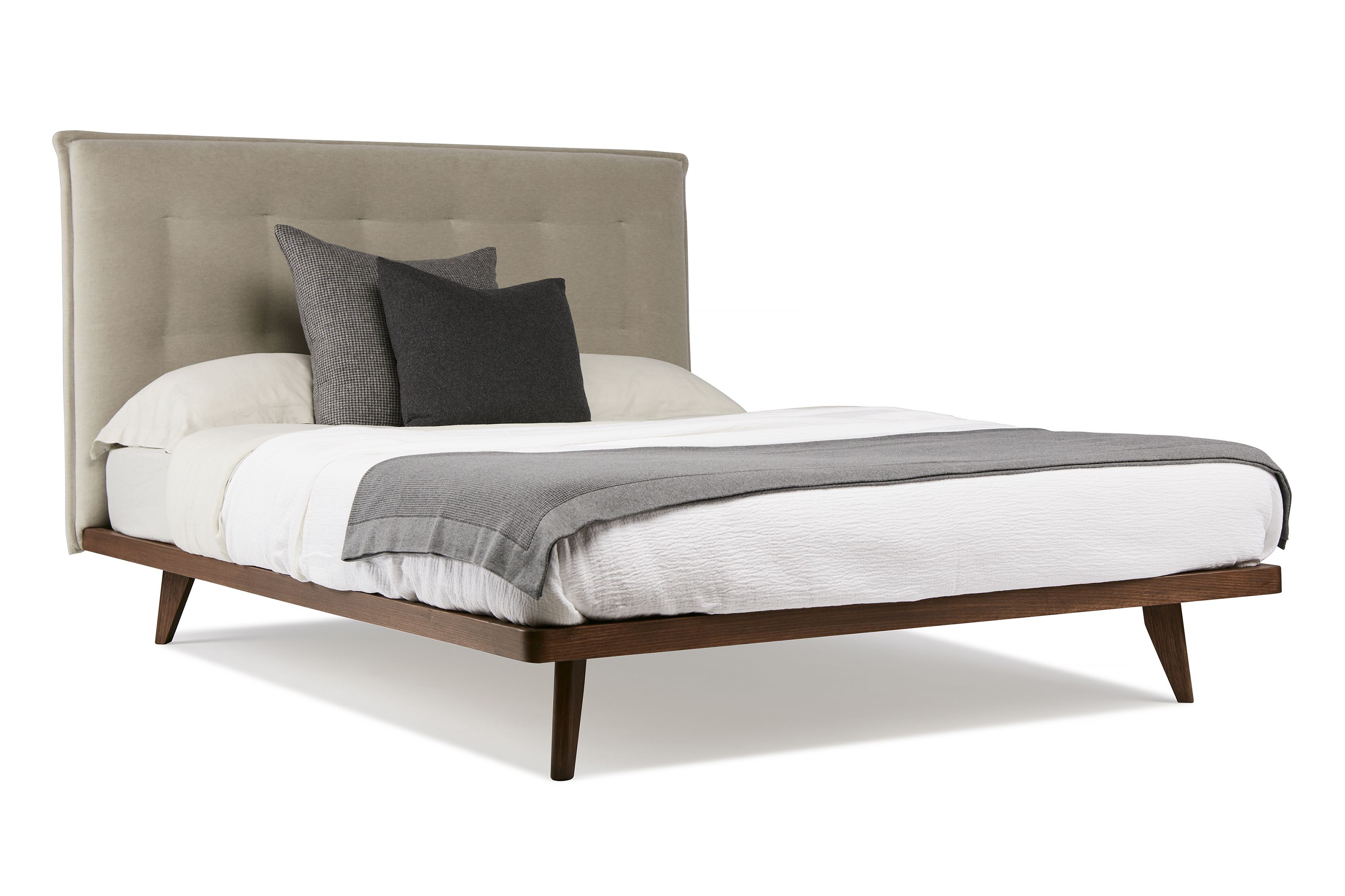 Austin Bed by Arthur G Upholstered Bed Head with Solid