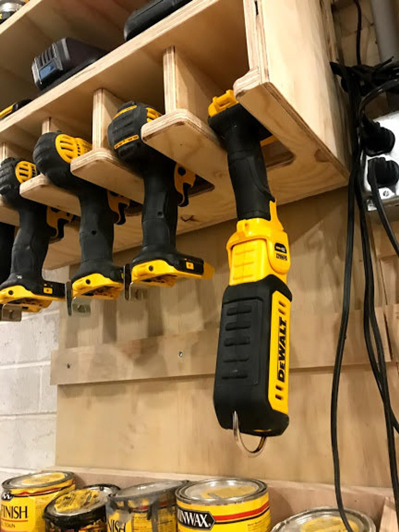 Cnc Made Cordless Drill Organizer Wall Mounted Cordless Tool Etsy In 2020 Tool Storage Power Tool Storage Cordless Tools
