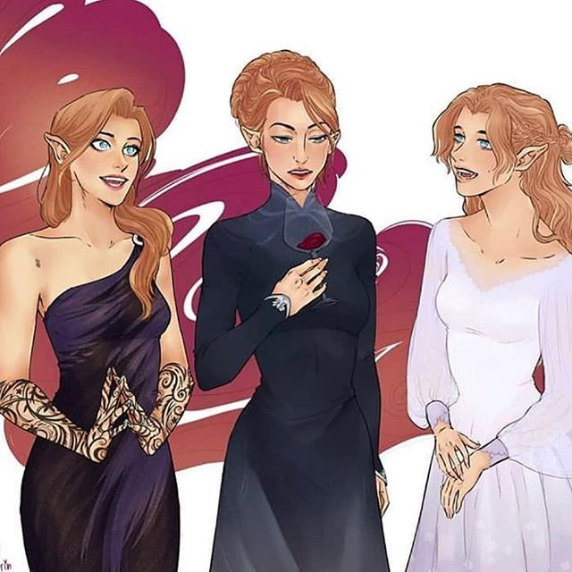 "@maryoompotter on Instagram: ""Feyre nesta and elain Ill be honest i actually love nesta and elain as much as i love feyre. Its just that now they r mysterious to me.…"""