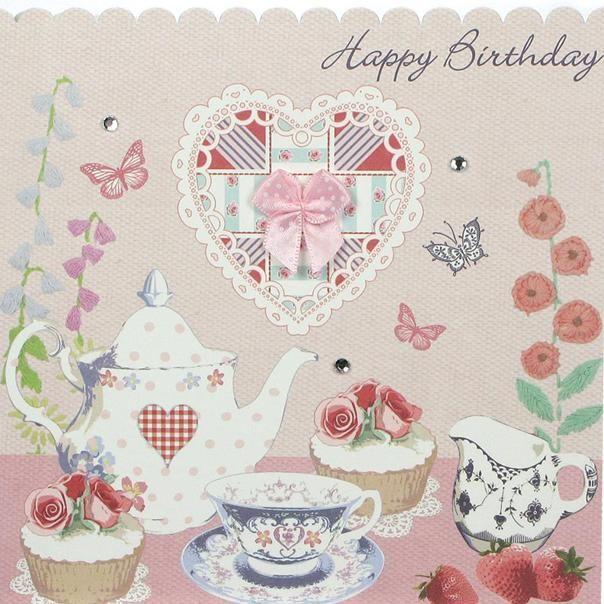 English Rose Tea & Cakes - cavania cards