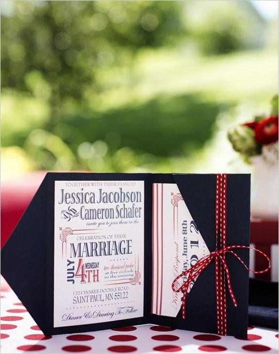 Americana Backyard Wedding Ideas Invitations Paper Wedding