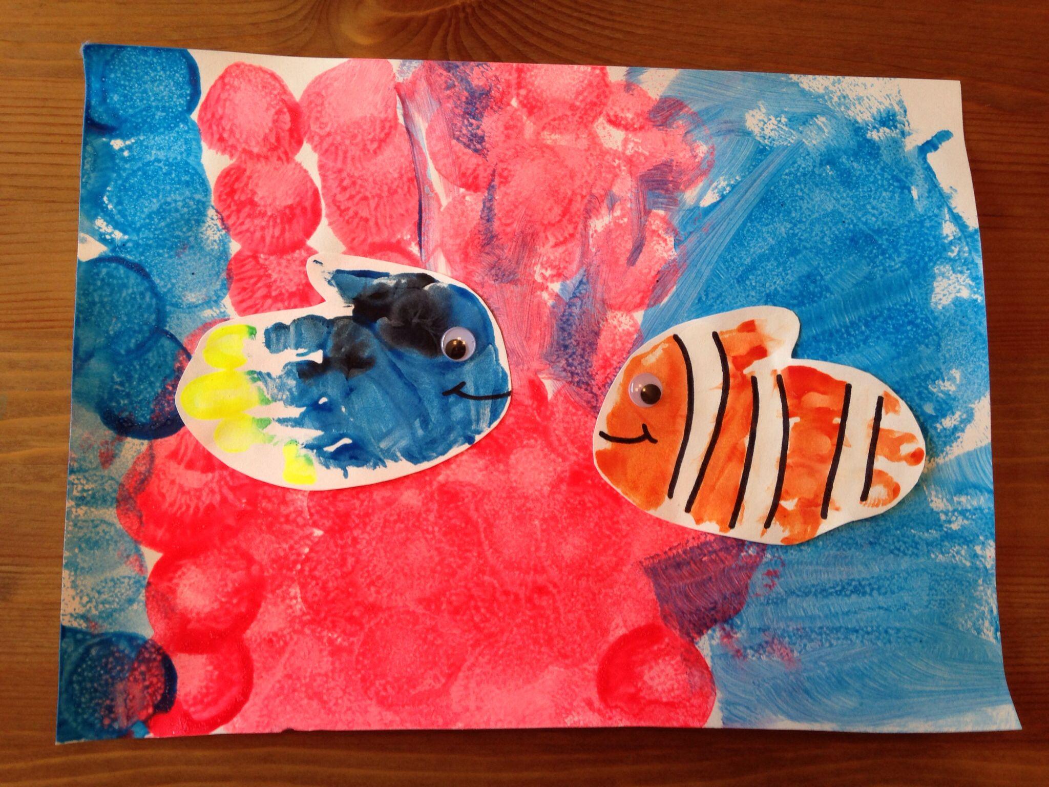 finding nemo craft fish handprint craft ocean craft