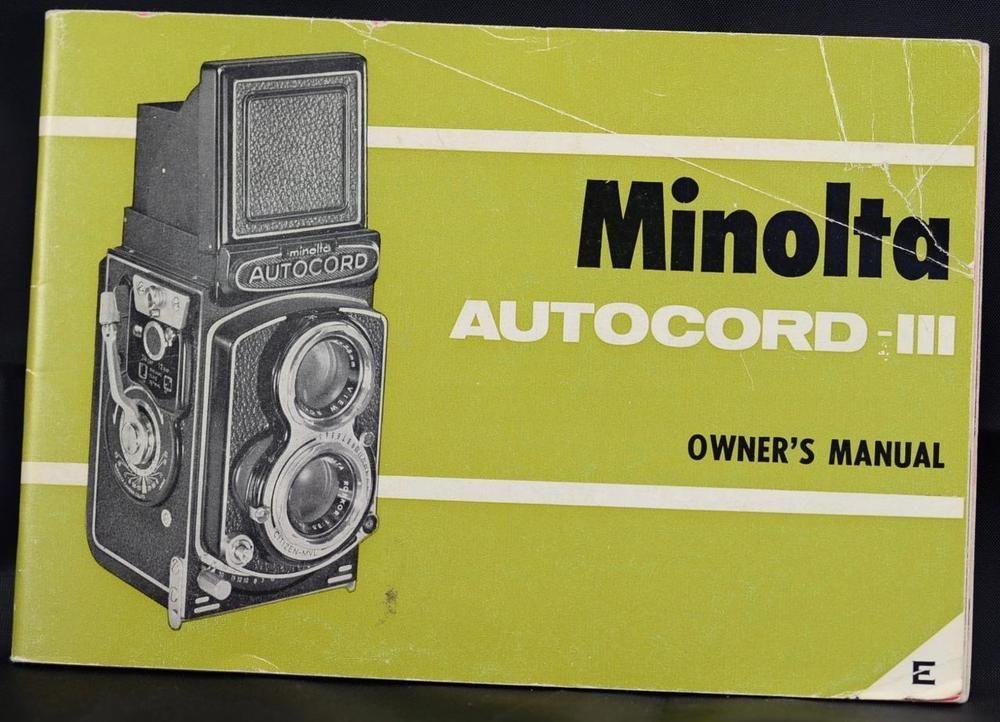 minolta autocord service manual