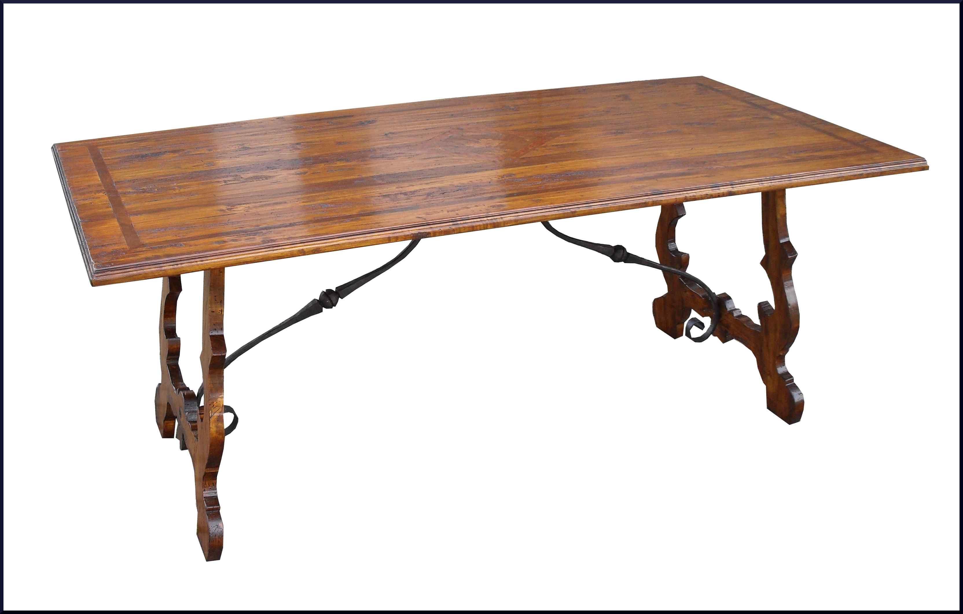 Tavolo fratino stile 700 con ferri mobili antichi e d for Decorazione giardini stile 700