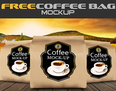 Check Out New Work On My Behance Portfolio Free Coffee Bag Mock