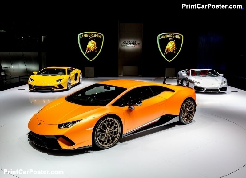 Lamborghini Huracan Performante 2018 Poster Lamborghini Huracan 2017 Lamborghini Huracan Lamborghini