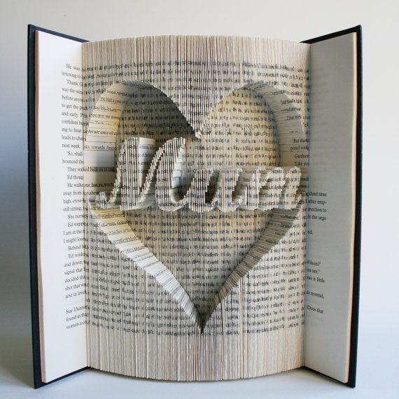 Mum In Heart Mothers Day Book Folding Pattern With Cuts Free
