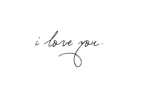 I Love You In Fancy Writing