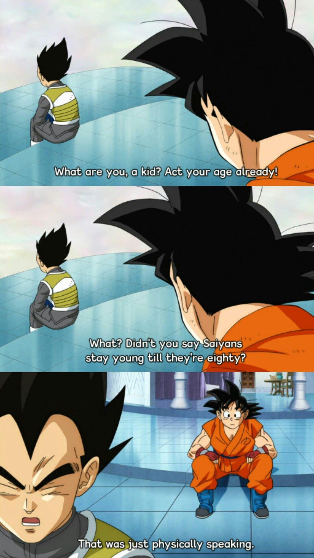 Vegeta And Goku Talking About Saiyan Age In Dbs Dragon Ball Z Dragon Ball Dragon Ball Super