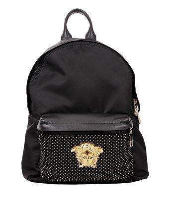 b451e4beb9 VERSACE Studded Medusa Backpack.  versace  bags  leather  nylon  backpacks