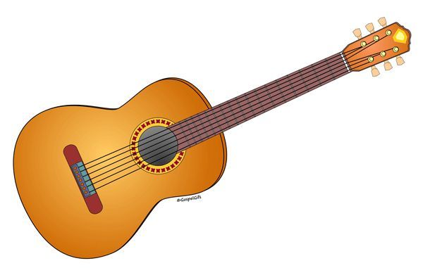 Musical Instrument: Acoustical Guitar - Free Christian Clip Art ...