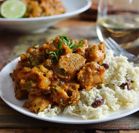 Creole Chicken with Coconut Plantation Rice #recipe