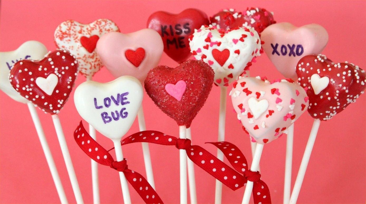 Conversation Heart Cake Pops Valentine Cake Pop Valentines Day