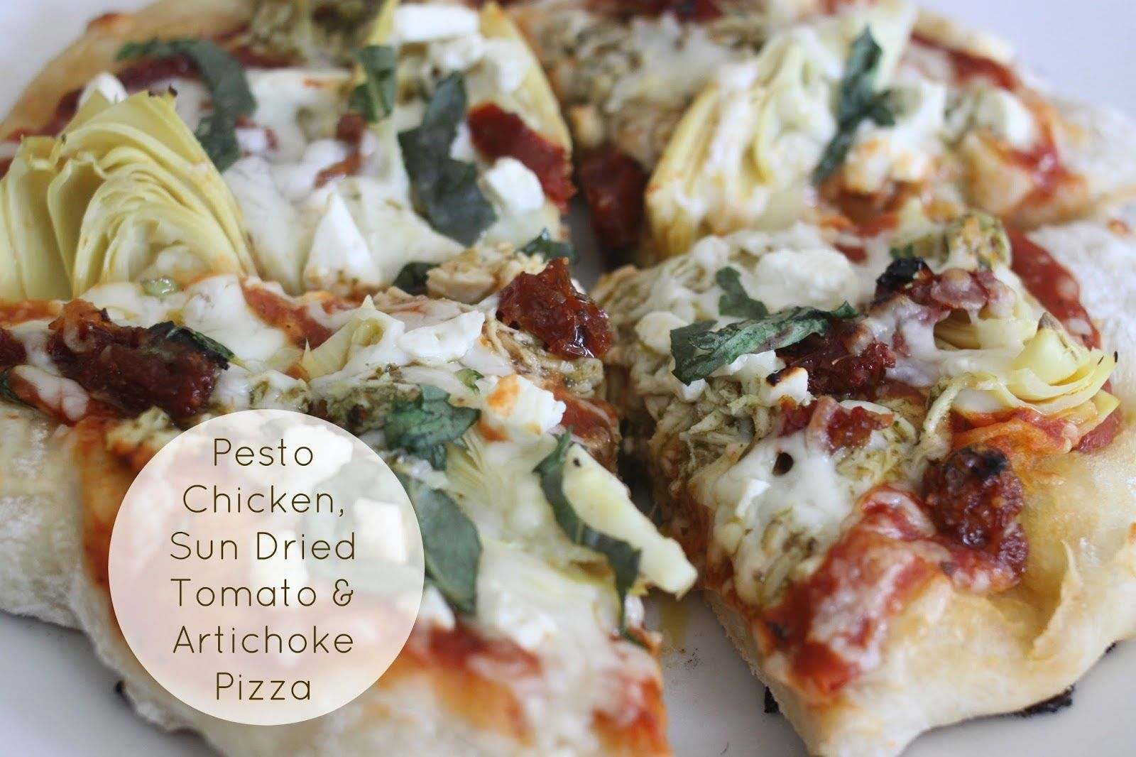 Pesto Chicken Sun Dried Tomato Artichoke Pizza Artichoke Pizza Sun Dried Tomato Pesto Chicken