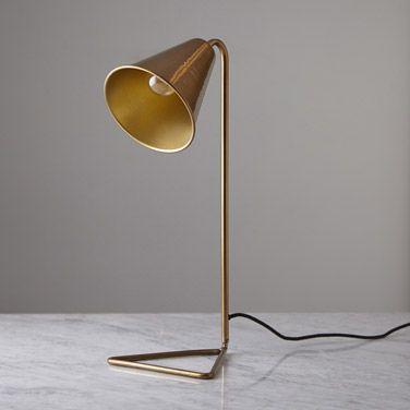 Brass Helen James Considered Cone Brass Lamp