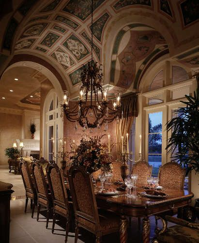 32 Elegant Ideas For Dining Rooms Real: High-end Interior Design Firm, Decorators Unlimited, Palm