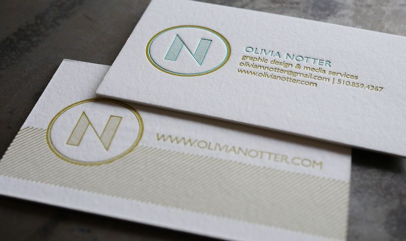 Gorgeous TwoSided Letterpress Business Cards  Design