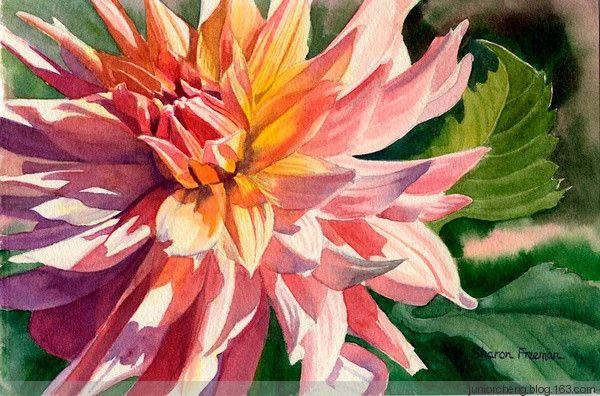 Sharon Freeman的水彩花卉 - yEs、先生 - 生活。生就是活