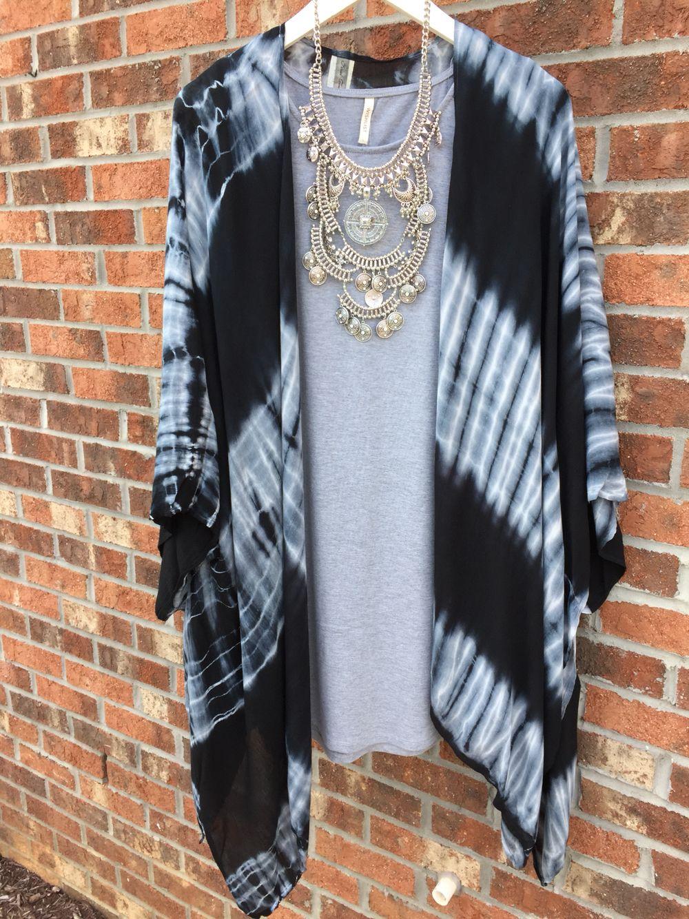 Tie dye kimono #swoonboutique