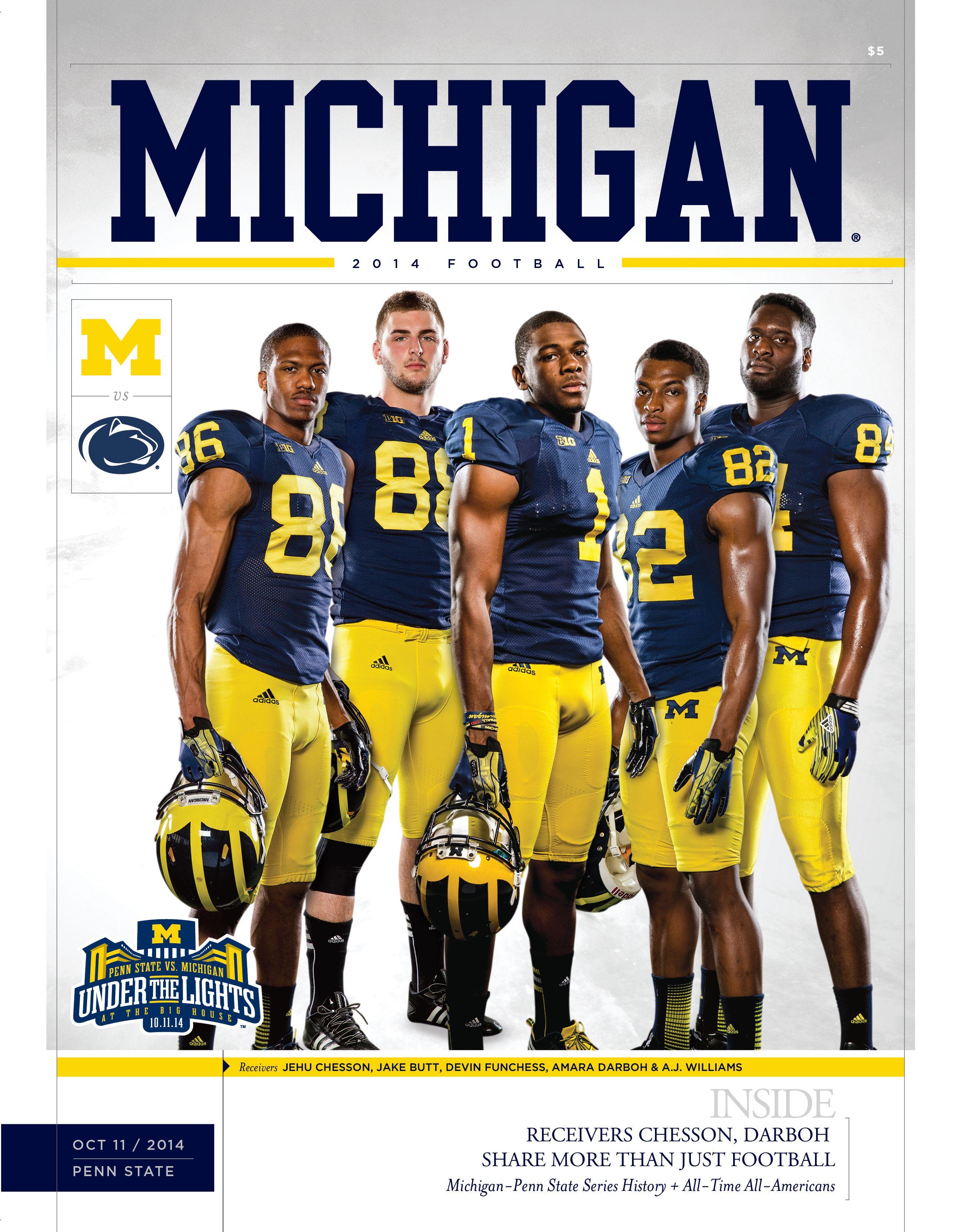Your Michigan Vs Penn State Digital Program Michigan Football Michigan Wolverines Football Michigan Go Blue