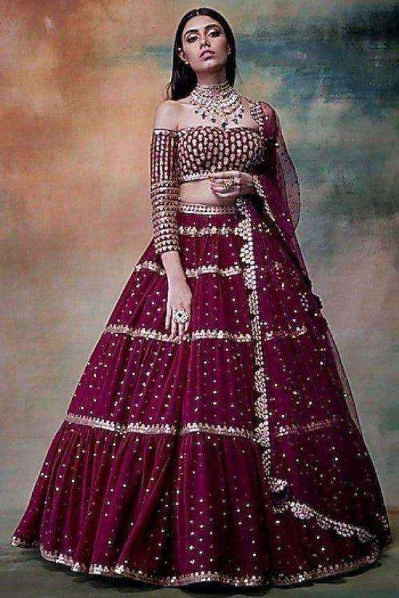 lehenga choli Indian Pakistani wedding Designer br