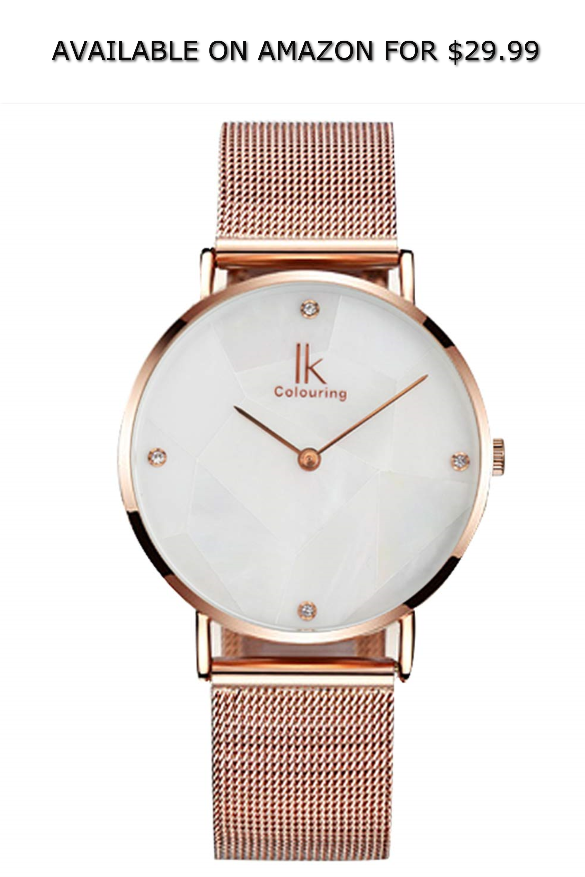 ad69334db Ultra-Thin Womens Watches, Quartz Analog Wrist Watch Marble Face Rose Gold  Strap ◇