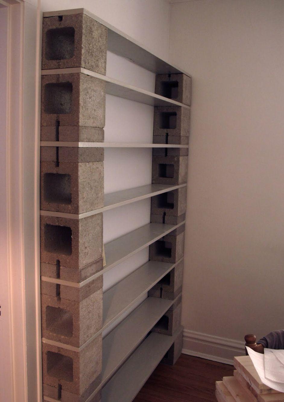 Cinder Block Bookcase Cinder Block Shelves Cinder Block