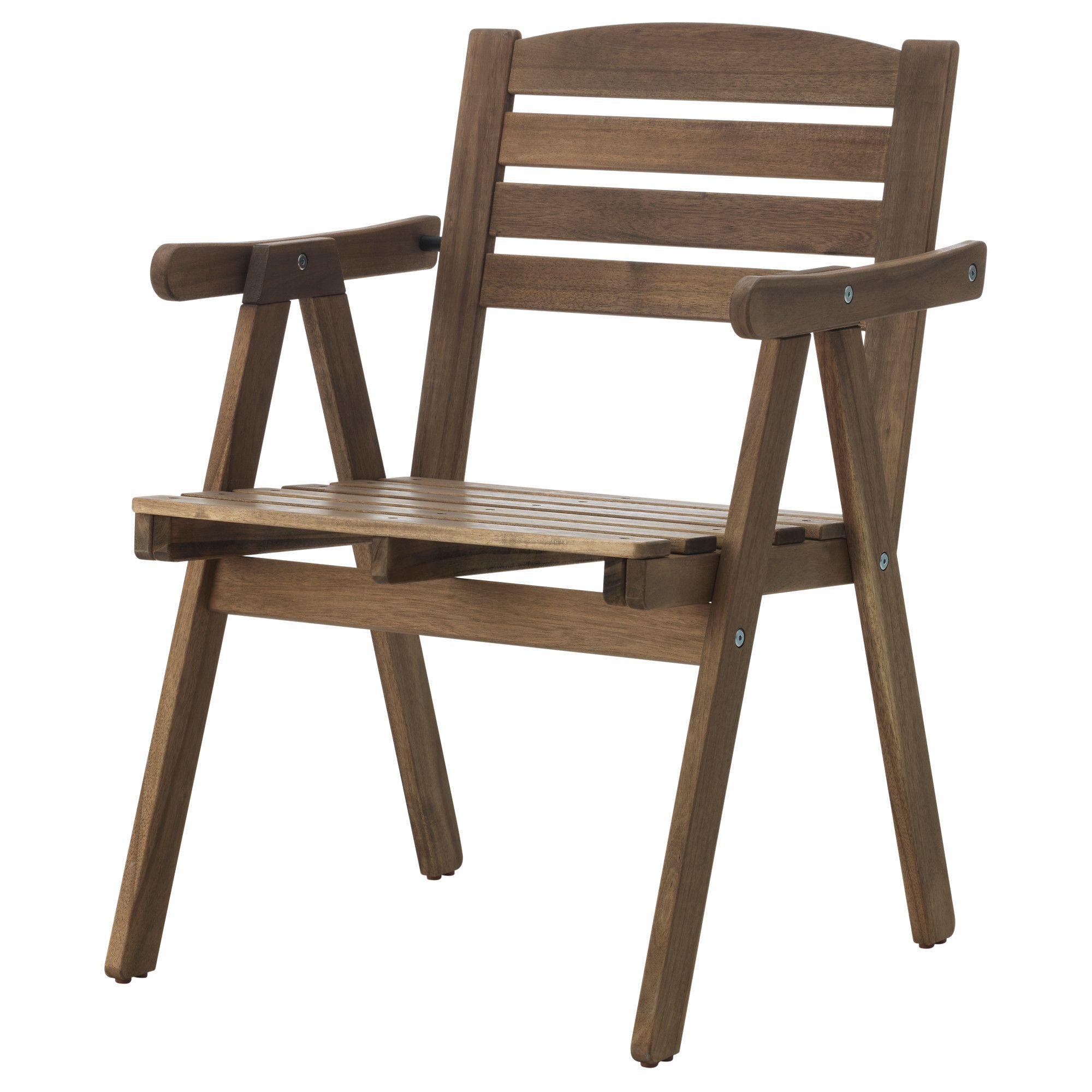 Adirondack Chair Kussens.Ikea Falholmen Armleunstoel Buiten Kan Gestapeld Worden Om