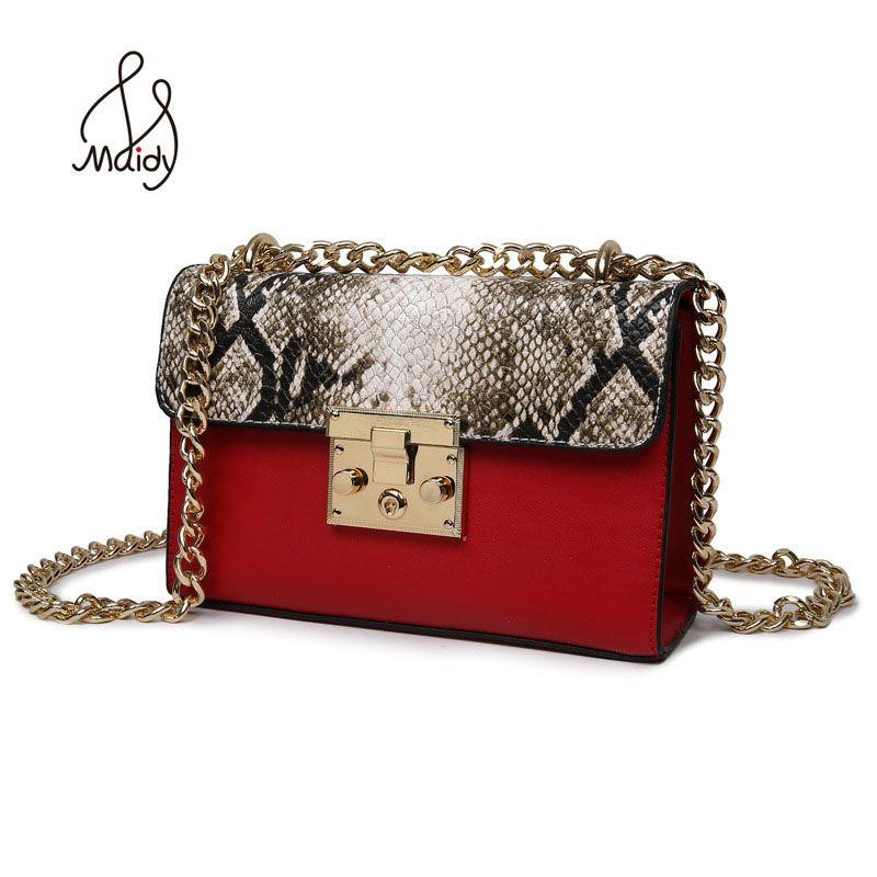 مصمم حقائب عالية الجودة حقيبة السيدات كتف المرأة أكياس اعوج الجلود سلاسل معدنية البريدي قفل صغير رفرف حقائب Bandolera Bolso Cruzado Bolsos De Cuero Hombre