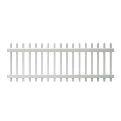 Veranda White Vinyl Chelsea Fence Panel Common 3 Ft X 8
