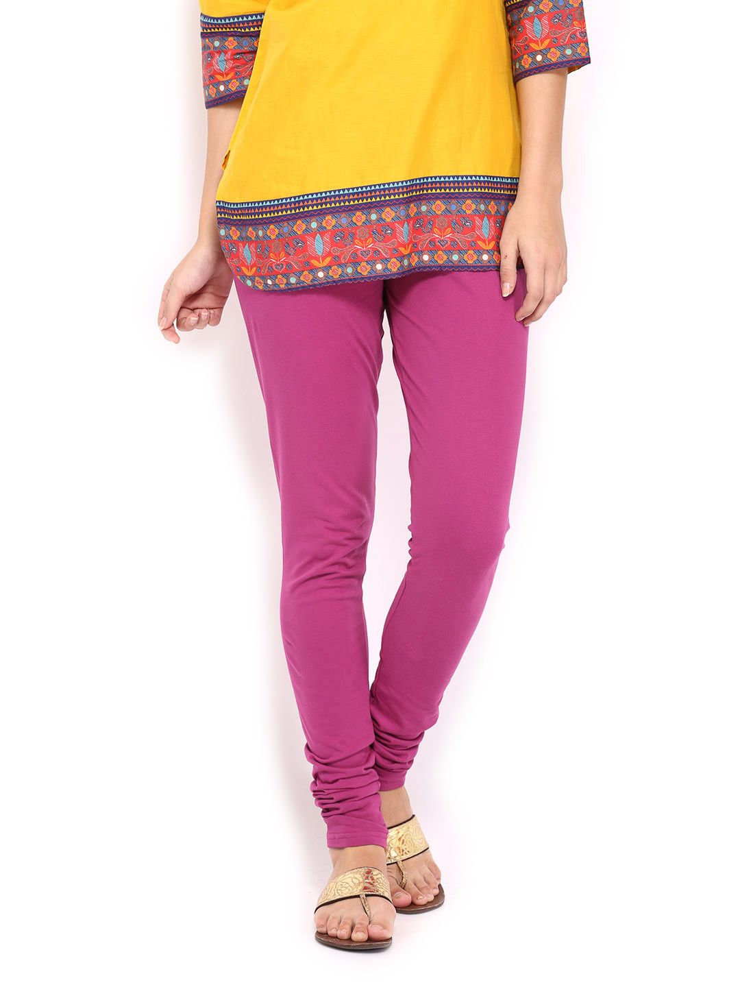 Buy BIBA Women Pink Churidar Leggings - 387 - Apparel for Women - 387318