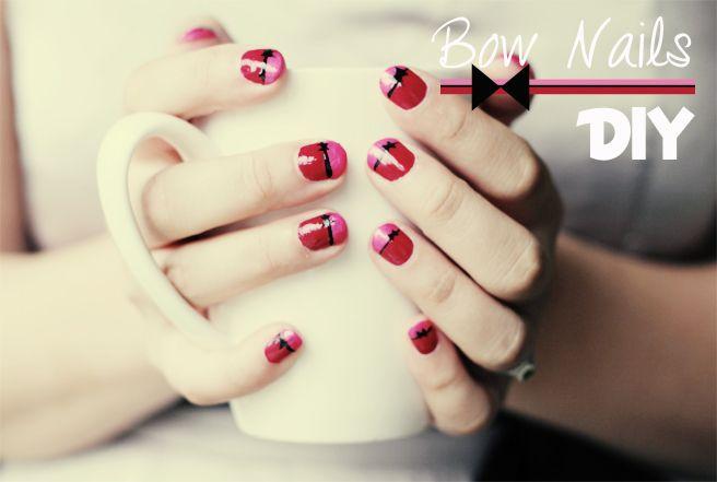 Lana Red: Bow Nails DIY