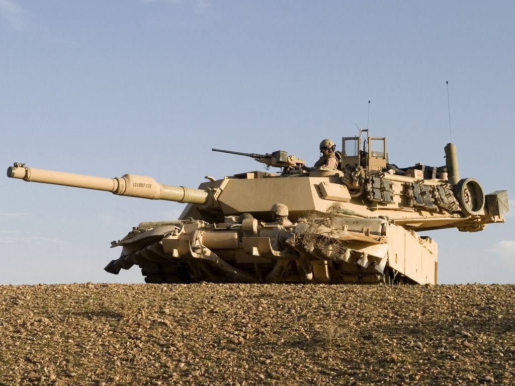 M1A2 Abrams Main Battle Tank is one serious weapon of warfare.