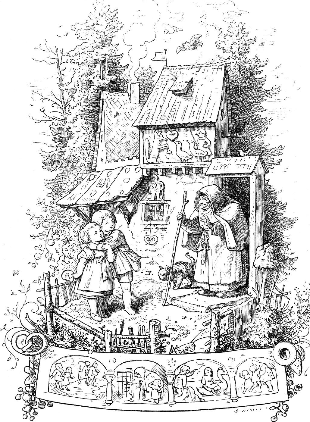 Hansel and Gretel ~ Ludwig Richter 1800s | Hansel and Gretel ...