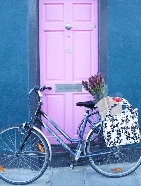 Bicycle color makes u feel alive & Flower Shopping Done | Bicycling Doors and Cycling