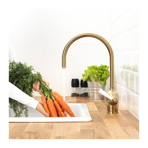 INSJÖN Kitchen mixer tap Brass-colour Kitchen Pinterest