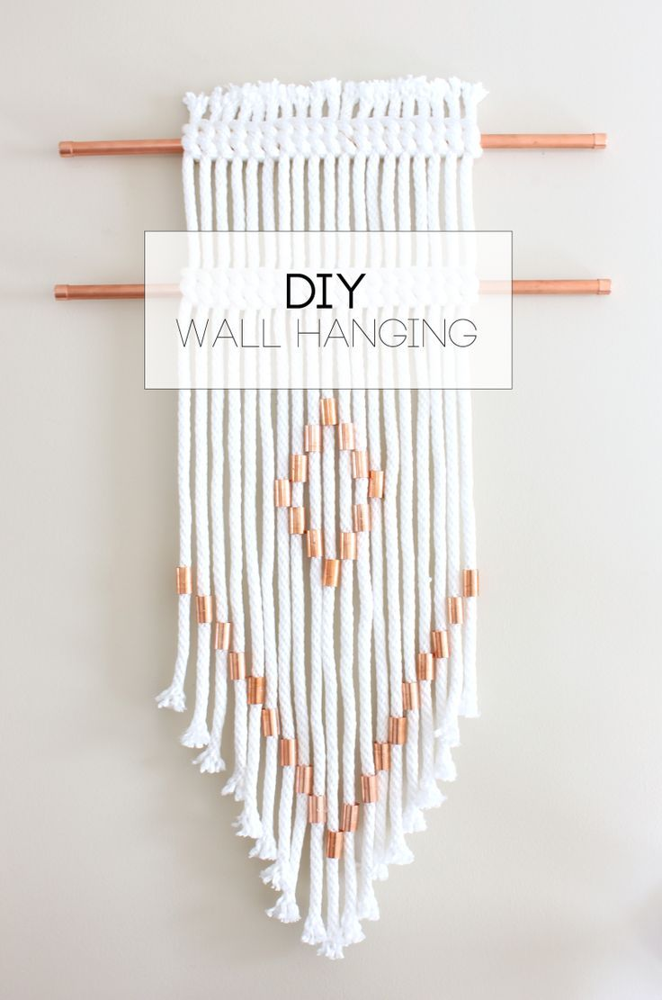 Diy Rope Copper Wall Hanging Everyday With Sarah Wall Hanging Diy Yarn Wall Art Yarn Wall Hanging
