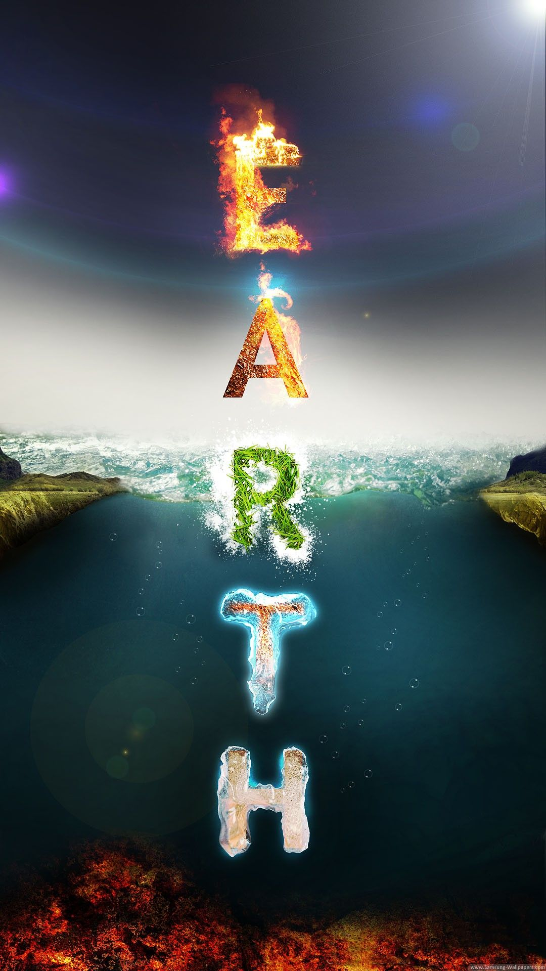 Earth Elements Typography 4K HD Android And IPhone