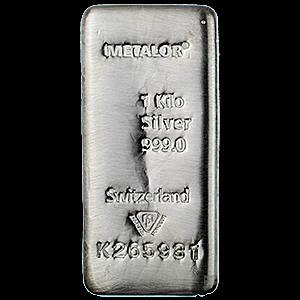 Metalor Silver Bar 1 Kg Vat Free Silver Bars Silver Silver Bullion