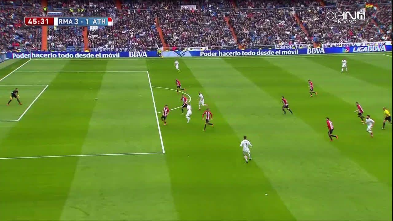 Toni Kroos scores against Athletic club[3-1]