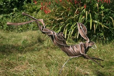 Hare by Penny Hardy, Sculpture, aluminium wire and epoxy resin