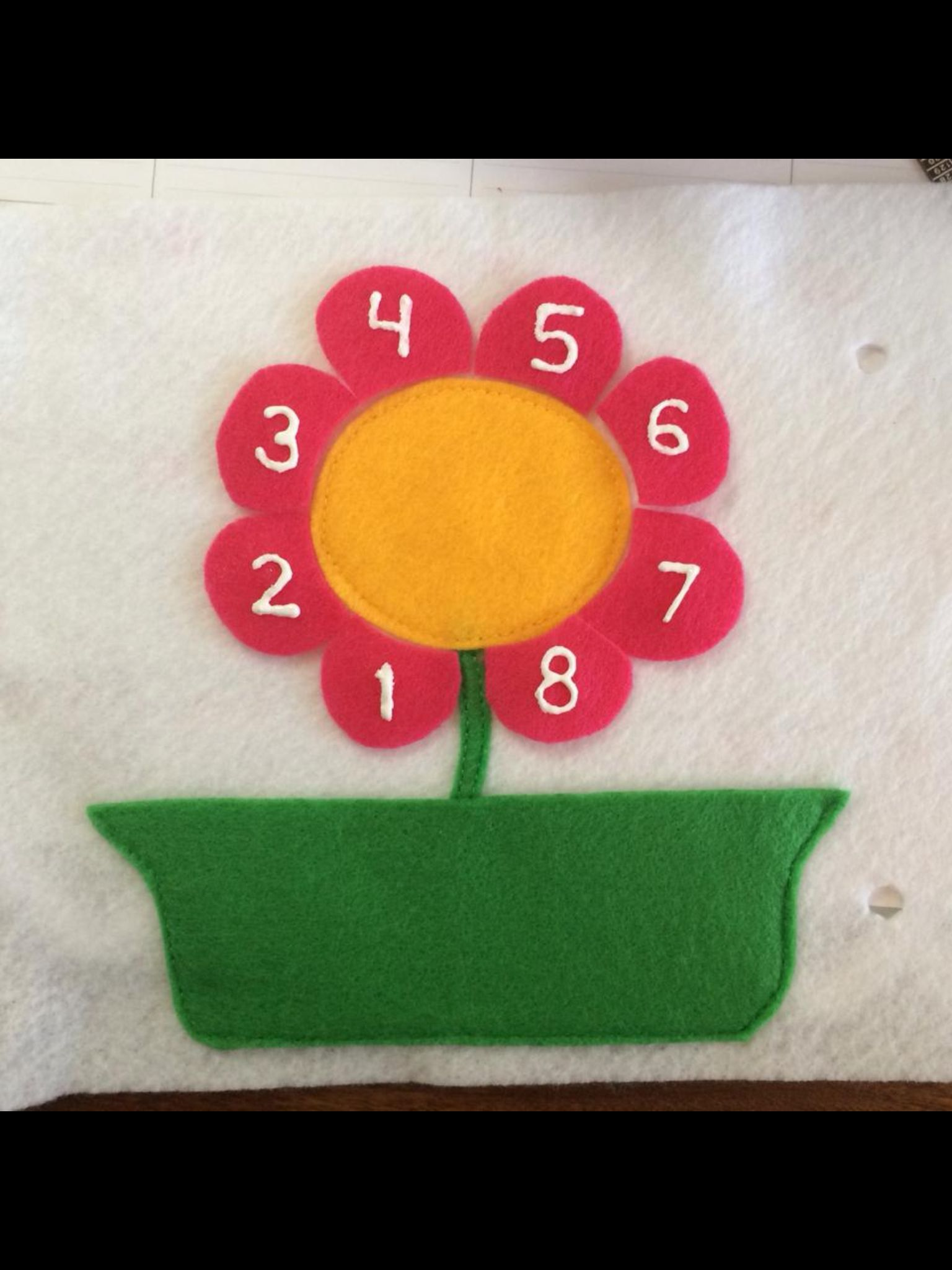 Petal Flower For Counting Practice Quiet Book Page