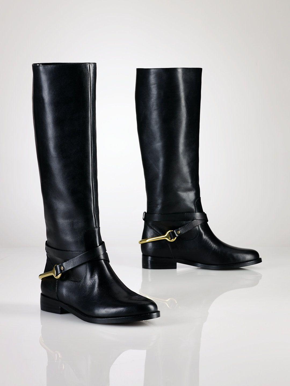 Bottes d'équitation à étrier - Chaussures Femmes - Ralph Lauren France