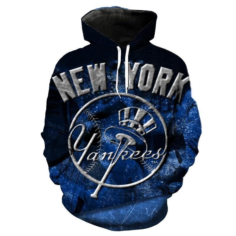 Mlb Baseball New York Yankees 3d Hoodie Sweatshirt Jacket Pullover New York Yankees Yankees Mlb Baseball