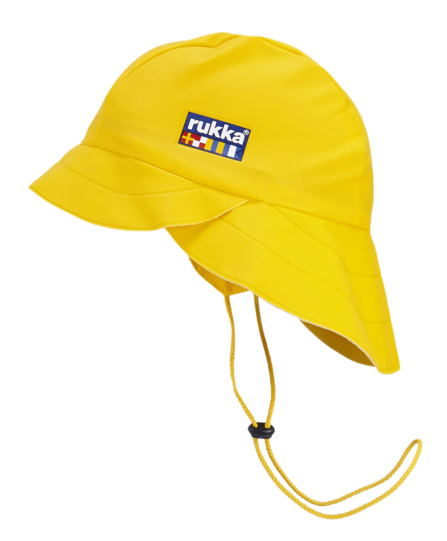 Rukka kids waterproof souwester rain hat Yellow Finland ... 5135c156983
