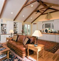 exposed beams vaulted ceiling Google Search LIVING ROOMDINING