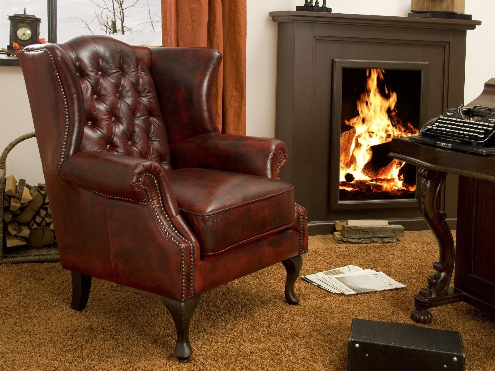 Retro Sessel Real Chair Eton Chesterfield By Massivum Real Leather