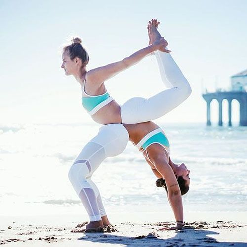 Lexi Yoga -  At first I thought the girl on the left was squatting and the girl on the right was in a handstand  - #Asana #AshtangaYoga #IyengarYoga #Lexi #MenYoga #MuscleFood #Namaste #PartnerYoga #Yoga #YogaGirls #YogaLifestyle #YogaPoses