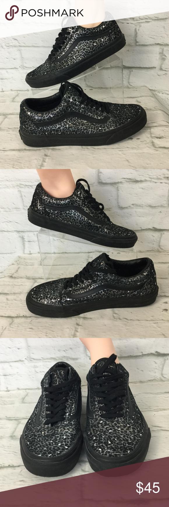 f8d8a77cb018d6 NWOT VANS Old Skool Metallic Leopard 8 VANS Old Skool Metallic Leopard Black  Skate Shoes WOMEN S